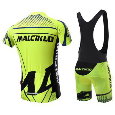 2018 New Products Malciklo  Summer Men Cycling Jersey Bib Tights Short Rompers Bike Compression Suits Quick DryCycling Clothings<br>2018 New Products Malciklo  Summer Men Cycling Jersey Bib Tights Short Rompers Bike Compression Suits Quick Dry<br><br>Feature: Anti-UV, Silicone Pads, High elasticity, Quick Dry, Breathable, Perspiration resistant<br>For: Cycling<br>Material: Lycra, Spandex, Polyester<br>Package Contents: 1 x Short Sleeve, 1 x Short Pants<br>Package size (L x W x H): 32.00 x 23.00 x 3.00 cm / 12.6 x 9.06 x 1.18 inches<br>Package weight: 0.4500 kg<br>Suitable Crowds: Men<br>Type: Short Sleeves Cycling Suit