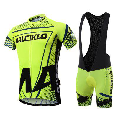 2018 New Products Malciklo  Summer Men Cycling Jersey Bib Tights Short Rompers Bike Compression Suits Quick Dry