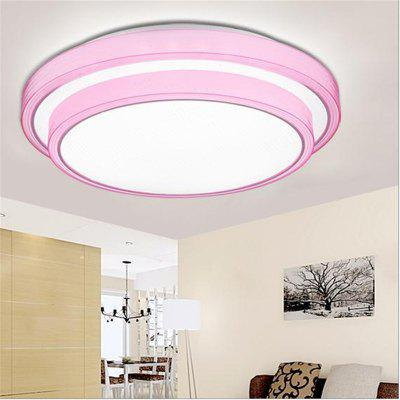 Powder Frame 36 Watts Double Layer Led Round Ceiling Lamp 40 Cm