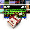 Family PAL Format TV Video Game Console Handheld with 500  Games - RED WITH WHITE
