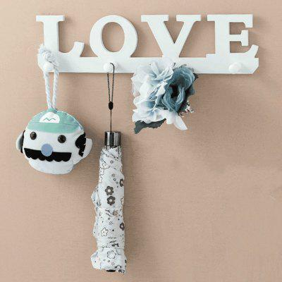 Buy Wall Mural Hook Storage Coat Rack WPC Board Wall Hanging Home Wall Decoration WHITE for $9.61 in GearBest store