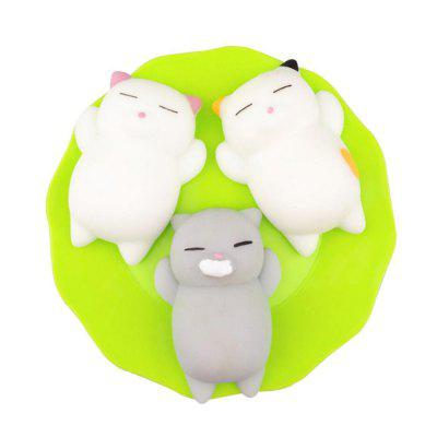 Kawaii Slow Rising Soft Squishy Squeeze Cute Mini Cat Stress Reliever Decompression Toy para crianças Fidget Gift 3PCS