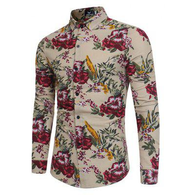 Long Sleeved Shirt Slim Young Floral ShirtMens Shirts<br>Long Sleeved Shirt Slim Young Floral Shirt<br><br>Collar: Turn-down Collar<br>Fabric Type: Polyester<br>Material: Polyester<br>Package Contents: 1 x Shirt<br>Shirts Type: Casual Shirts<br>Sleeve Length: Full<br>Weight: 0.2500kg