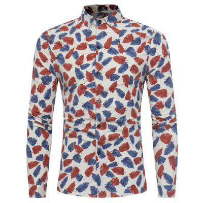 New Sleeved Printing Character Young Flower Shirt