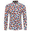 New Sleeved Printing Character Young Flower Shirt - OFF-WHITE
