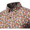 New Spring Sleeved Handsome Slim Floral Print Shirt - JACINTH