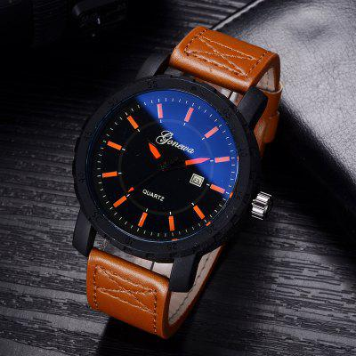 GON011 Men Leather Band Blue Mirror Quartz WatchMens Watches<br>GON011 Men Leather Band Blue Mirror Quartz Watch<br><br>Band material: PU<br>Band size: 26.5 x 2.4 CM<br>Case material: Alloy<br>Clasp type: Pin buckle<br>Dial size: 4.7 x 4.7 x 1.2 CM<br>Display type: Analog<br>Movement type: Quartz watch<br>Package Contents: 1 x Watch<br>Package size (L x W x H): 29.00 x 6.50 x 1.30 cm / 11.42 x 2.56 x 0.51 inches<br>Package weight: 0.0690 kg<br>Product size (L x W x H): 26.50 x 4.70 x 1.20 cm / 10.43 x 1.85 x 0.47 inches<br>Product weight: 0.0670 kg<br>Shape of the dial: Round<br>Special features: Day<br>Watch mirror: Mineral glass<br>Watch style: Business, Trends in outdoor sports, Fashion, Casual<br>Watches categories: Men