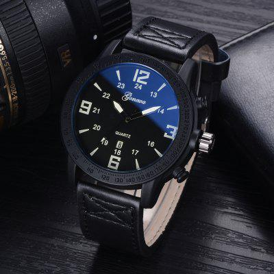 GON016 Men Leather Band Dress WatchMens Watches<br>GON016 Men Leather Band Dress Watch<br><br>Band material: PU<br>Band size: 26 x 2.4 CM<br>Case material: Alloy<br>Clasp type: Pin buckle<br>Dial size: 4.7 x 4.7 x 1.1 CM<br>Display type: Analog<br>Movement type: Quartz watch<br>Package Contents: 1 x Watch<br>Package size (L x W x H): 29.00 x 6.50 x 1.20 cm / 11.42 x 2.56 x 0.47 inches<br>Package weight: 0.0570 kg<br>Product size (L x W x H): 26.00 x 4.70 x 1.10 cm / 10.24 x 1.85 x 0.43 inches<br>Product weight: 0.0550 kg<br>Shape of the dial: Round<br>Special features: Day<br>Watch mirror: Mineral glass<br>Watch style: Business, Trends in outdoor sports, Fashion, Casual<br>Watches categories: Men