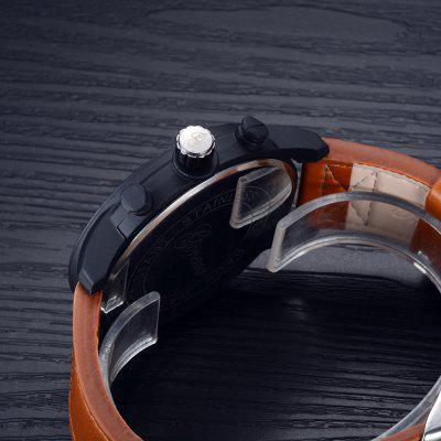 GON018 Men Fashion Leather Brand Big Face Quartz WatchMens Watches<br>GON018 Men Fashion Leather Brand Big Face Quartz Watch<br><br>Band material: PU Leather<br>Band size: 26 x 2.4 CM<br>Case material: Alloy<br>Clasp type: Pin buckle<br>Dial size: 4.7 x 4.7 x 1.1 CM<br>Display type: Analog<br>Movement type: Quartz watch<br>Package Contents: 1 x Watch<br>Package size (L x W x H): 29.00 x 6.50 x 1.20 cm / 11.42 x 2.56 x 0.47 inches<br>Package weight: 0.0580 kg<br>Product size (L x W x H): 26.00 x 4.70 x 1.10 cm / 10.24 x 1.85 x 0.43 inches<br>Product weight: 0.0560 kg<br>Shape of the dial: Round<br>Special features: Day<br>Watch mirror: Mineral glass<br>Watch style: Business, Retro, Fashion, Casual<br>Watches categories: Men
