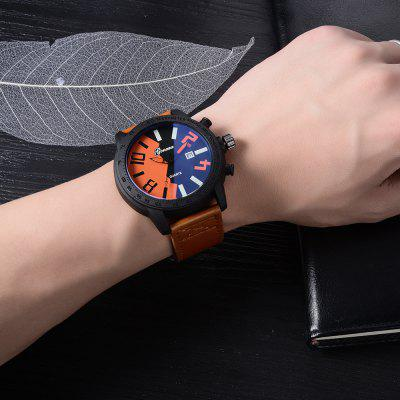 GON019 Men Leather Band Unique Dial Quartz WatchesMens Watches<br>GON019 Men Leather Band Unique Dial Quartz Watches<br><br>Band material: PU Leather<br>Band size: 26 x 2.4 CM<br>Case material: Alloy<br>Clasp type: Pin buckle<br>Dial size: 4.7 x 4.7 x 1.1 CM<br>Display type: Analog<br>Movement type: Quartz watch<br>Package Contents: 1 x Watch<br>Package size (L x W x H): 29.00 x 6.50 x 1.20 cm / 11.42 x 2.56 x 0.47 inches<br>Package weight: 0.0580 kg<br>Product size (L x W x H): 26.00 x 4.70 x 1.10 cm / 10.24 x 1.85 x 0.43 inches<br>Product weight: 0.0560 kg<br>Shape of the dial: Round<br>Special features: Day<br>Watch mirror: Mineral glass<br>Watch style: Business, Retro, Fashion, Casual<br>Watches categories: Men