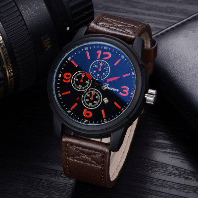 GON020 Men Fashion Leather Band Quartz WatchMens Watches<br>GON020 Men Fashion Leather Band Quartz Watch<br><br>Band material: PU Leather<br>Band size: 26.2 x 2.4 CM<br>Case material: Alloy<br>Clasp type: Pin buckle<br>Dial size: 4.7 x 4.7 x 1.3 CM<br>Display type: Analog<br>Movement type: Quartz watch<br>Package Contents: 1 x Watch<br>Package size (L x W x H): 29.00 x 6.50 x 1.30 cm / 11.42 x 2.56 x 0.51 inches<br>Package weight: 0.0740 kg<br>Product size (L x W x H): 26.20 x 4.70 x 1.20 cm / 10.31 x 1.85 x 0.47 inches<br>Product weight: 0.0720 kg<br>Shape of the dial: Round<br>Special features: Day<br>Watch mirror: Mineral glass<br>Watch style: Business, Retro, Fashion, Casual<br>Watches categories: Men