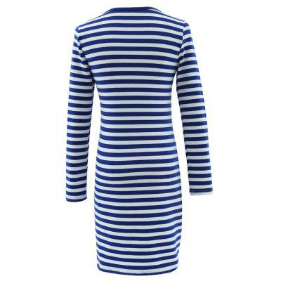 2018 New Knitted Striped DressesBodycon Dresses<br>2018 New Knitted Striped Dresses<br><br>Dresses Length: Mid-Calf<br>Elasticity: Micro-elastic<br>Fabric Type: Jersey<br>Material: Polyester<br>Neckline: Round Collar<br>Package Contents: 1 x Dress<br>Pattern Type: Striped<br>Season: Summer, Winter, Spring, Fall<br>Silhouette: Sheath<br>Sleeve Length: Long Sleeves<br>Style: Casual<br>Waist: Natural<br>Weight: 0.2000kg<br>With Belt: No
