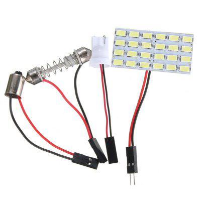 24SMD 5730 LED Light Panel Board Multi-Function Car Interior Dome Reading Lamp Light