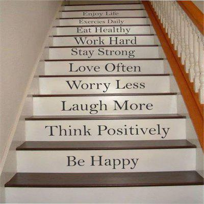 Quote Wall StickerEnjoy Life Staircase Decorative Decal