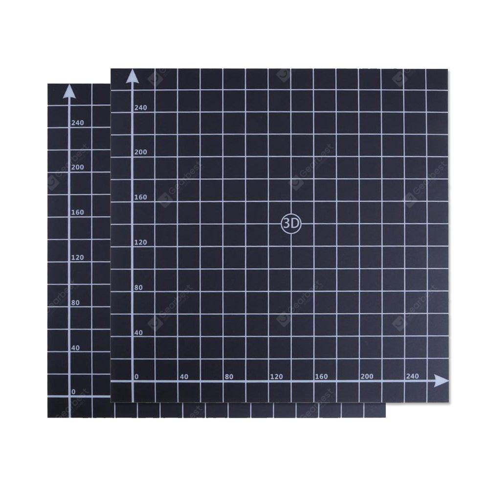 300X300MM BlackHot Bed Surface Sticker Accessory with 1:1 Coordinate for 3D Printer