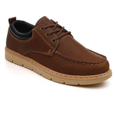 Men's Casual Oxford Shoes All Match Antiskid Outdoor Solid Color Shoes