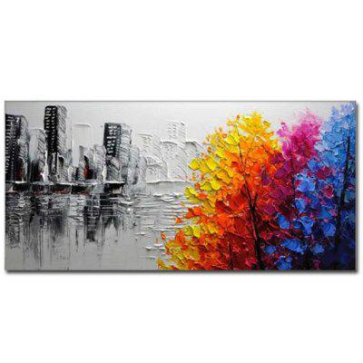 Buy COLOR Hand Painted Modern Abstract Landscape OiL Painting on Canvas Livng Room Home Wall Decor No Framed for $70.17 in GearBest store
