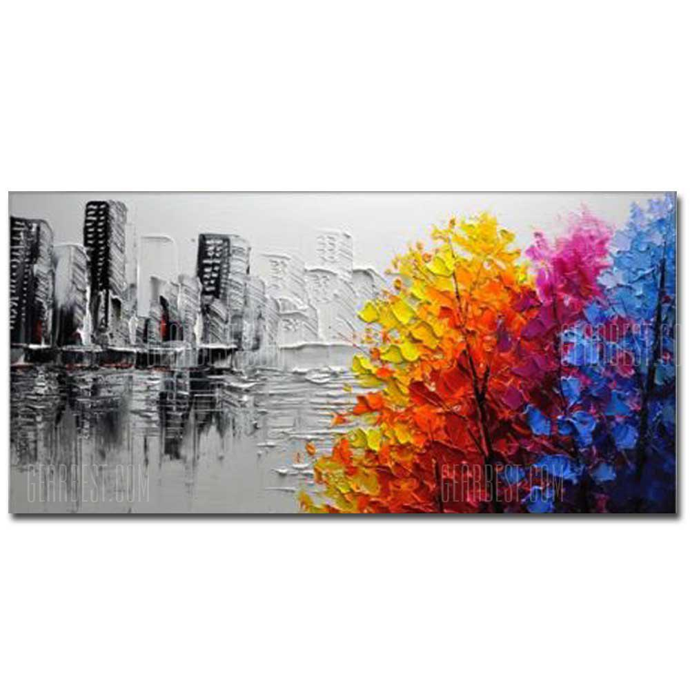 COLOR Hand Painted Modern Abstract Landscape OiL Painting on Canvas Livng Room Home Wall Decor No Framed