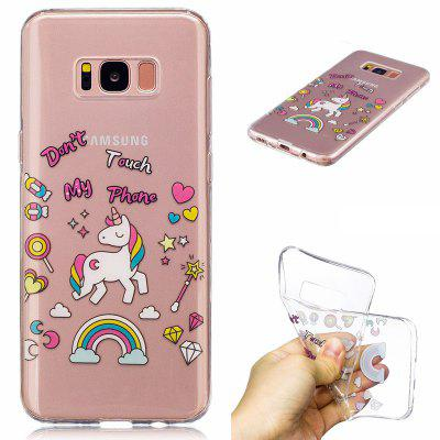 for Samsung Galaxy S8 Unicorn Pattern Painted High Penetration TPU Material IMD Process Soft Case Phone Case
