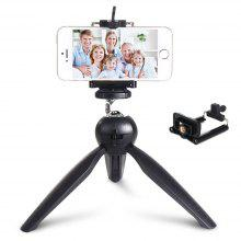 Premium Mini Tripod with Phone Mount Table Top Stand for Gopro Smartphones Compact Cameras and DSLRs