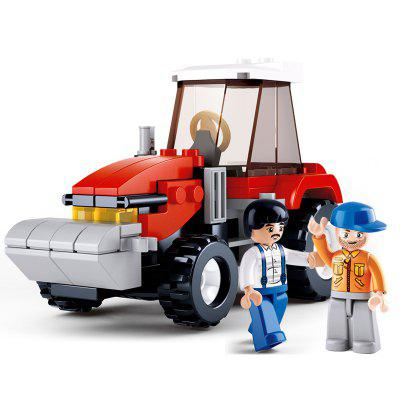 Sluban Building Blocks Educational Kids Toy Farmer Tractor of Town 103PCS