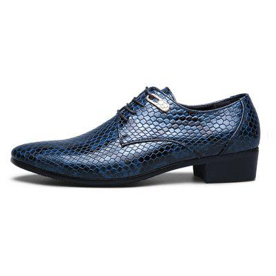 Korean Style Mens Snakeskin Pattern Plus Size Leather ShoesFormal Shoes<br>Korean Style Mens Snakeskin Pattern Plus Size Leather Shoes<br><br>Available Size: 38-47<br>Closure Type: Lace-Up<br>Embellishment: Metal<br>Gender: For Men<br>Occasion: Party<br>Outsole Material: Rubber<br>Package Contents: 1 x pair of shoes<br>Pattern Type: Snake Print<br>Season: Summer, Winter, Spring/Fall<br>Toe Shape: Pointed Toe<br>Toe Style: Closed Toe<br>Upper Material: Leather<br>Weight: 1.3200kg