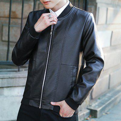 Mens Synthetic Leather Jacket Windproof Stand Collar Long Sleeve CoatMens Jackets &amp; Coats<br>Mens Synthetic Leather Jacket Windproof Stand Collar Long Sleeve Coat<br><br>Clothes Type: Leather &amp; Suede<br>Collar: V-Neck<br>Material: Polyester<br>Package Contents: 1 x Coat<br>Season: Spring<br>Shirt Length: Regular<br>Sleeve Length: Long Sleeves<br>Style: Fashion<br>Weight: 0.7000kg