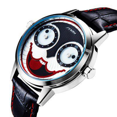 Sinobi 749G01 1238 Casual Fashion Fashion Cool Clown Dial Belt Waterproof Quartz WatchMens Watches<br>Sinobi 749G01 1238 Casual Fashion Fashion Cool Clown Dial Belt Waterproof Quartz Watch<br><br>Band material: Leather<br>Band size: 19 x 2cm<br>Brand: Sinobi<br>Case material: Alloy<br>Clasp type: Pin buckle<br>Dial size: 4.2 x 4.2 x 1.2cm<br>Display type: Analog<br>Movement type: Quartz watch<br>Package Contents: 1 x Watch, 1 x Box<br>Package size (L x W x H): 28.00 x 8.00 x 3.50 cm / 11.02 x 3.15 x 1.38 inches<br>Package weight: 0.0835 kg<br>Product size (L x W x H): 19.00 x 4.20 x 1.20 cm / 7.48 x 1.65 x 0.47 inches<br>Product weight: 0.0535 kg<br>Shape of the dial: Round<br>Watch style: Casual, Fashion<br>Watches categories: Men<br>Water resistance: 30 meters<br>Wearable length: 19 - 23cm