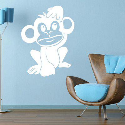 Monkey Animals Vinyl Wall Sticker for Kids Room Cute Monkey DecalsWall Stickers<br>Monkey Animals Vinyl Wall Sticker for Kids Room Cute Monkey Decals<br><br>Art Style: Plane Wall Stickers, Toilet Stickers<br>Color Scheme: Black,White<br>Function: Decorative Wall Sticker<br>Material: Paper, Vinyl(PVC)<br>Package Contents: 1 x wall sticker, 1 x transfer sheet<br>Package size (L x W x H): 28.00 x 4.00 x 4.00 cm / 11.02 x 1.57 x 1.57 inches<br>Package weight: 0.0600 kg<br>Quantity: 1<br>Sizes: Others<br>Subjects: Fashion,Animal,Cartoon,Flower<br>Suitable Space: Living Room,Bedroom,Hotel,Kids Room,Kids Room,Boys Room,Girls Room<br>Type: Plane Wall Sticker