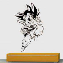 DS076 Goku Dragon Ball Decorative Painting Vinyl Wall Sticker Cartoon Figure Decals for Kids Room