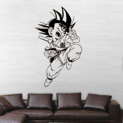 DS076 Goku Dragon Ball Decorative Painting Vinyl Wall Sticker Cartoon Figure Decals for Kids RoomWall Stickers<br>DS076 Goku Dragon Ball Decorative Painting Vinyl Wall Sticker Cartoon Figure Decals for Kids Room<br><br>Art Style: Plane Wall Stickers, Toilet Stickers<br>Function: Decorative Wall Sticker<br>Material: Paper, Vinyl(PVC)<br>Package Contents: 1 x wall sticker, 1 x transfer sheet<br>Package size (L x W x H): 31.00 x 4.00 x 4.00 cm / 12.2 x 1.57 x 1.57 inches<br>Package weight: 0.0800 kg<br>Quantity: 1<br>Sizes: Others<br>Subjects: People,Cartoon,Animation,Figure Painting<br>Suitable Space: Living Room,Dining Room,Kids Room,Corridor,Kids Room,Boys Room<br>Type: Plane Wall Sticker