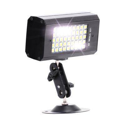 U'King ZQ-B228 5W Sound Activated 45 LEDs Mini White Strobe Light for Stage Effect Lighting