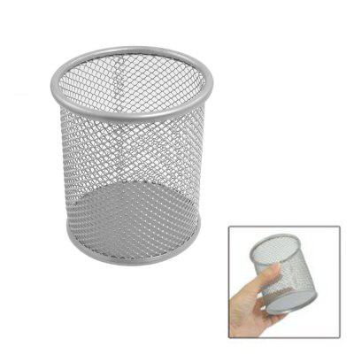 Metal Round Pen Holder Desktop Box