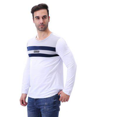 MenS O Neck Patchwork Stripe Letter Long Sleeve T ShirtMens T-shirts<br>MenS O Neck Patchwork Stripe Letter Long Sleeve T Shirt<br><br>Collar: Round Neck<br>Material: Cotton, Spandex<br>Package Contents: 1 x T Shirt<br>Pattern Type: Patchwork<br>Sleeve Length: Full<br>Style: Casual<br>Weight: 0.2600kg