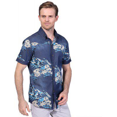 Fashion Print Short Sleeve Denim ShirtMens Shirts<br>Fashion Print Short Sleeve Denim Shirt<br><br>Collar: Turn-down Collar<br>Fabric Type: Broadcloth<br>Material: Cotton, Polyester<br>Package Contents: 1 x Shirt<br>Shirts Type: Casual Shirts<br>Sleeve Length: Short<br>Weight: 0.2600kg