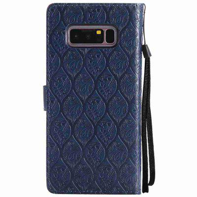 Embossed Rattan Flowers PU TPU Phone Case for Samsung Galaxy  Note 8