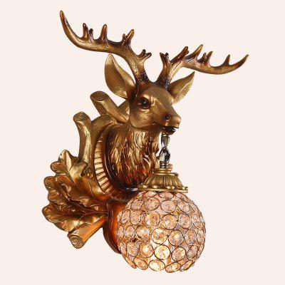 Deer Head Resin  LED The Hallway Stairs Gate Wall Lamp KTV Hotel Project Light Net Cafe