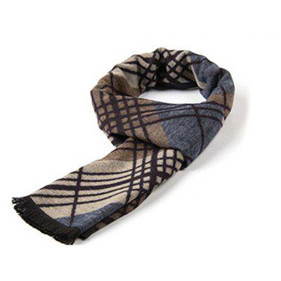 New fashion men's scarves in autumn and winter imitating cashmere and warm and thick anti pilling