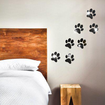 The Crystal Mirror Wall Wall Decoration Foot Cartoon Background Acrylic Mirror Wall StickersWall Stickers<br>The Crystal Mirror Wall Wall Decoration Foot Cartoon Background Acrylic Mirror Wall Stickers<br>