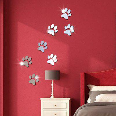 Oglinda de cristal perete de perete de decorare picioare Cartoon Background Acrylic oglindă Wall Stickers