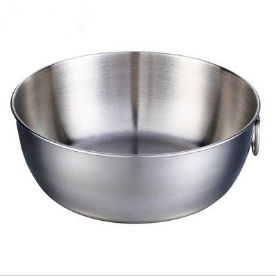 Stainless Steel Large Space Salad Sealed Crisper Cold Eggbeater Bowl