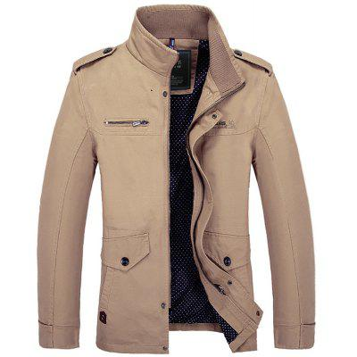 Autumn New Pure Cotton Casual CoatMens Jackets &amp; Coats<br>Autumn New Pure Cotton Casual Coat<br><br>Clothes Type: Jackets<br>Collar: Turtleneck<br>Fabric Type: Canvas<br>Material: Cotton, Polyester<br>Package Contents: 1x Jacket<br>Season: Spring, Summer, Fall<br>Shirt Length: Regular<br>Sleeve Length: Long Sleeves<br>Style: Casual<br>Weight: 0.7000kg