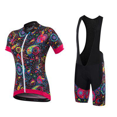 Malciklo 2018 New Product Summer Cycling Jersey Bib Tights Woman Short Bike Compression Suits Quick Dry