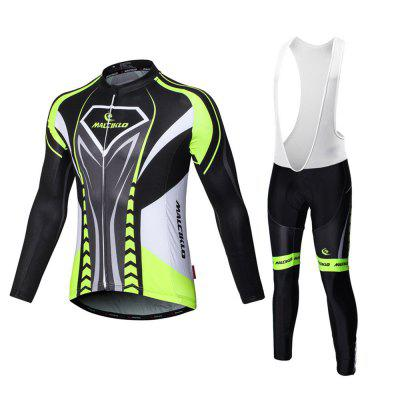 Malciklo 18 New Products Spring and Autumn Season Cycling Jersey Bib Tights Men Long  Bike Compression Suits
