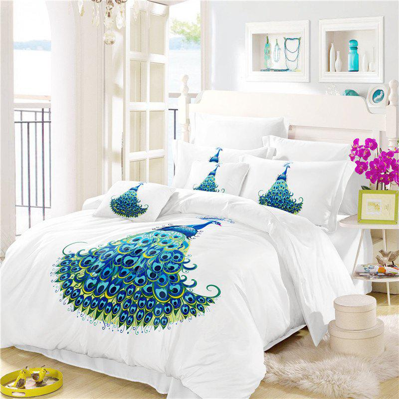 Embroidery Peacock Feathers Series Four Pieces of Bedding SK11