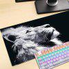 Lion Printed Large Gaming Mouse Pad for Desktop Laptop Supersize Pad - BLACK