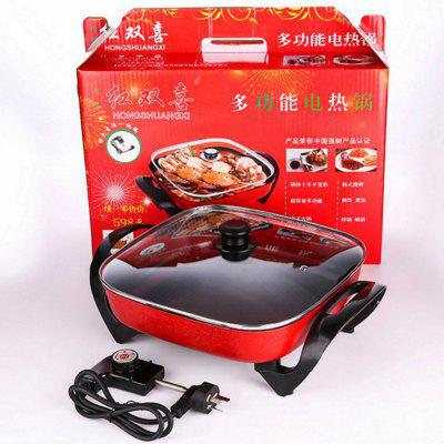 Electric Hot Pot Household Electric Cooker 6L de grande capacidade Non Stick Pan Bottom