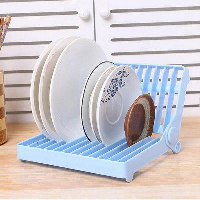 Foldable Dish Plate Drying Rack Organizer Drainer Plastic Storage Holder