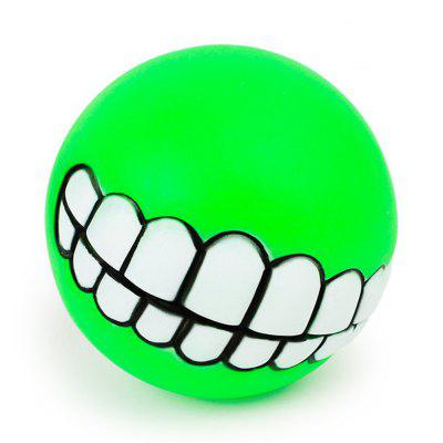 Pets Dog Puppy Cat Ball Teeth Style Toy Silicone Chew Sound Play Tool Puppy Cat Ball Toy