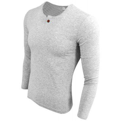 Long Sleeve Simple Bottom Round Collar T-ShirtMens T-shirts<br>Long Sleeve Simple Bottom Round Collar T-Shirt<br><br>Collar: Round Neck<br>Material: Cotton Blends<br>Package Contents: 1XT-shirt<br>Pattern Type: Solid<br>Sleeve Length: Full<br>Style: Casual<br>Weight: 0.2000kg